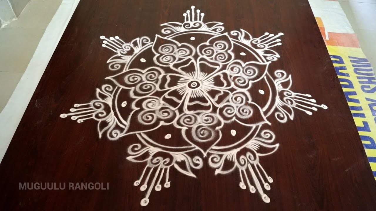 Easy rangoli designs easy kolangal easy and for Home made rangoli designs