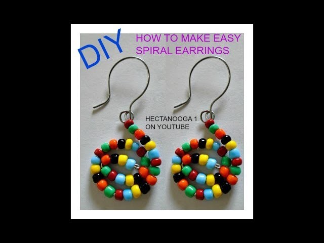 EASY SPIRAL EARRINGS, JEWELRY MAKING, HOW TO MAKE WIRE EARRINGS