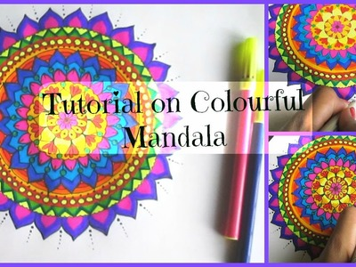 Easy Tutorial on Mandala: Using markers.!