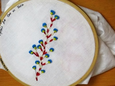 Embroidery Designs  -  Simple and easy beautiful Cast on stitch design