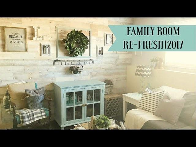 Family Room Decor Refresh| 2017