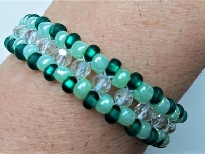 Go Green Bracelet 6. Easy beaded bracelet pattern