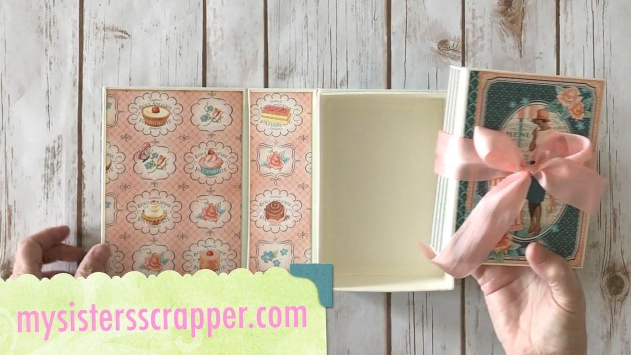 Graphic 45 Cafe Parisian Book Box and Mini Album