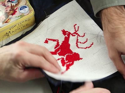 How to do a cross stitch embroidery on clothing using the waste canvas technique  by ARNE & CARLOS