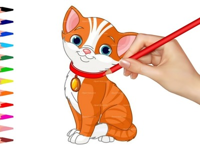 How to Draw Cats | Coloring Pages for Kids | Learning for Kids Video