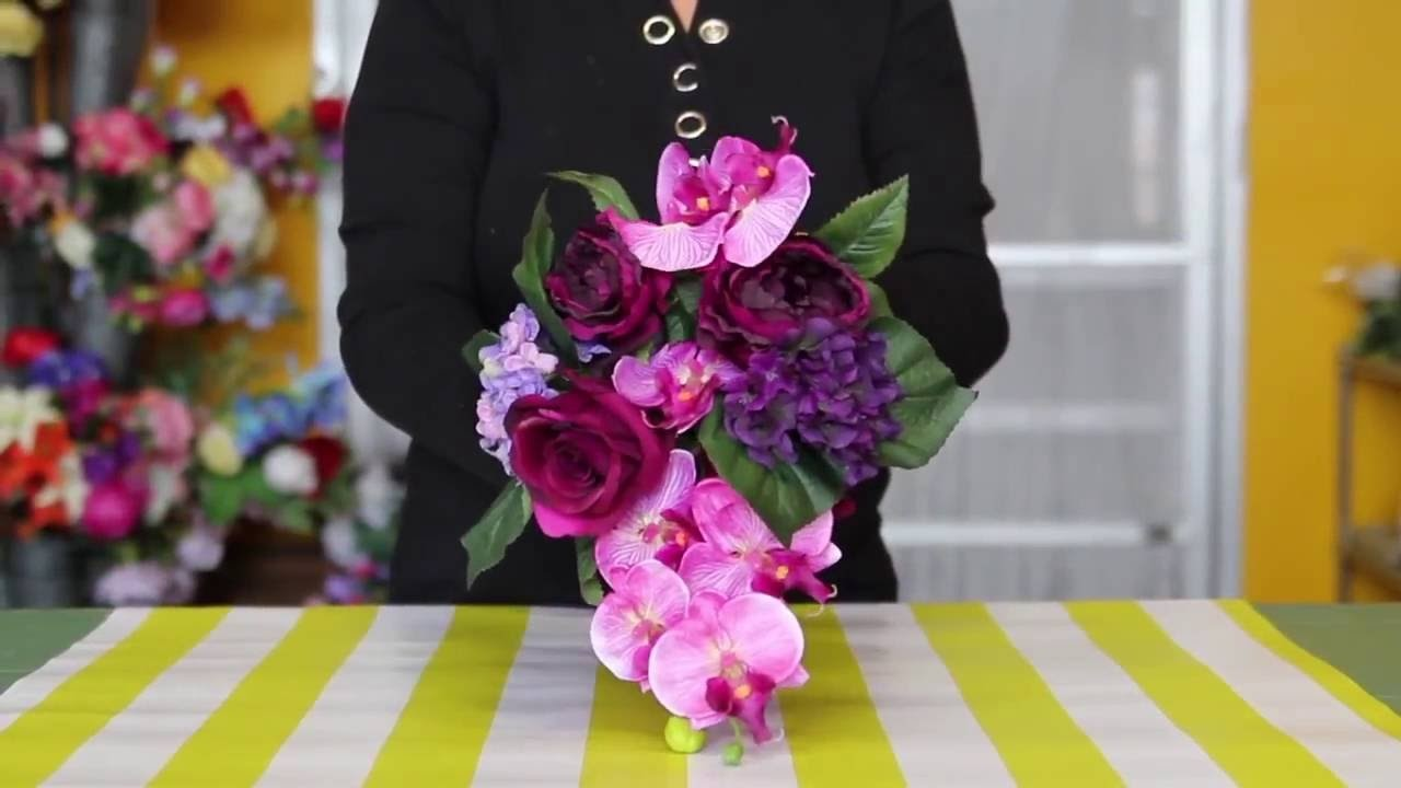 How to Make a Bridal Bouquet Using Premade Bouquets