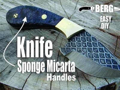 How to make a Knife with Sponge Micarta Handles and full blade pattern etching