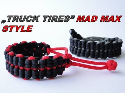 "How to Make a ""Mad Max Style"" Truck Tires Paracord Survival Bracelet"