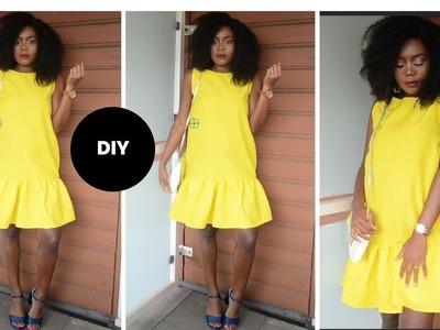 HOW TO MAKE A MINI FLARED DRESS I Beginner Sewing I Easy Sewing