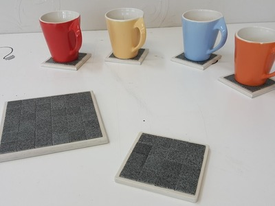 How to Make a Mosaic Tile Coaster - Upcycling Idea