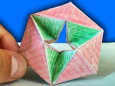 How To Make a PAPER moving FLEXAGON. DIY Paper Toys