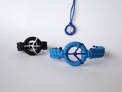 How to Make a Peace Sign Paracord Bracelet- Peace Charm by CreationsByS