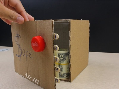 How to Make a Safe Locker from Cardboard with 5 Digit Combination Code