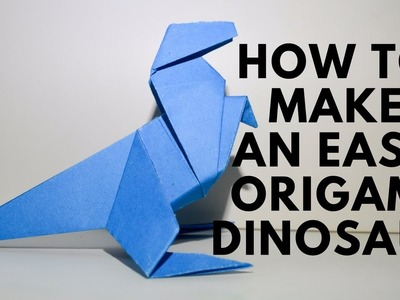 How To Make an Easy Origami Dinosaur | Simple Origami Dinosaur