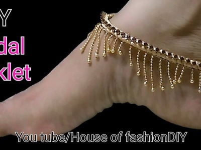 How To Make Bridal  Silk thread  Anklet At Home. !!