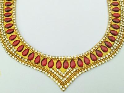 How To Make Designer Necklace. How Make Bridal Necklace. DIY. Home Made Tutorial