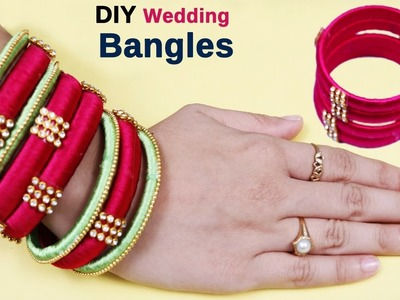 How to make Latest Silk thread bangles at home I Party wear bangles I bangle making video