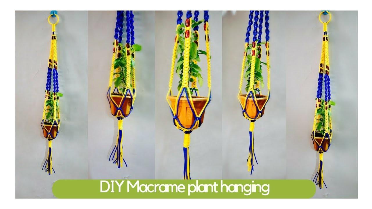 How to make macrame plant hangers   Macrame Art   easy diy tutorial in hindi