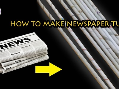 How to make newspaper tubes | Basic tutorial | step by step | Art with Creativity 222