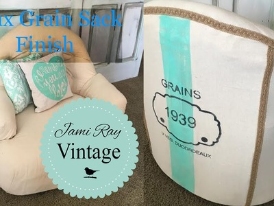 How to paint a faux grain sack with Chalk Paint.