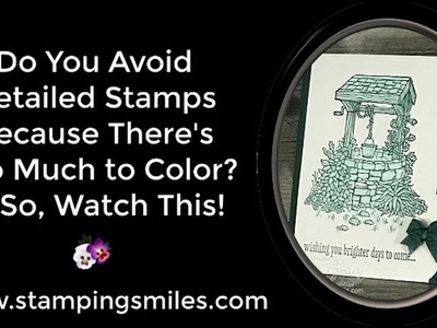 How to Quickly Color a Detailed Stamp Image Tutorial