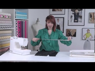 How to Sew a Bias Bound Slit PREVIEW | BurdaStyle Videos