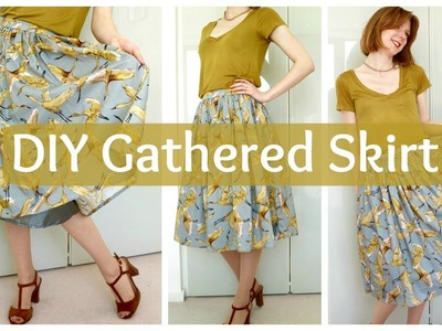 How to sew a gathered skirt without a pattern