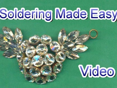 How to Solder Jewelry Video 2  - Dapped Rhinestone Pendant