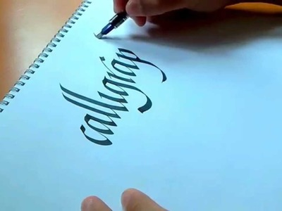 How To Write Calligraphy In 90 Seconds