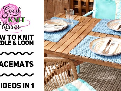 Knit or Loom Knit Placemat | Easy Life Knit Placemat pattern by Yarnspirations