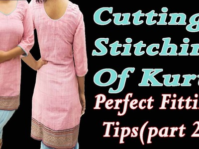 Kurti Stitching-With Pin Tuck Design-Part 2-Easy to Learn