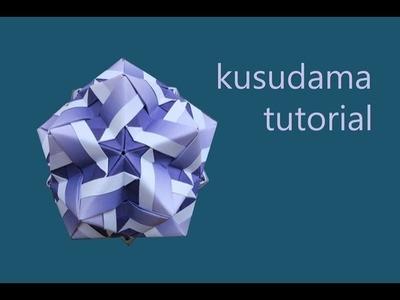 Kusudama designed by Narong Krined - modular origami - tutorial - dutchpapergirl