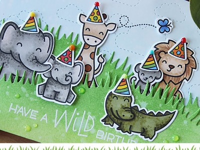 Lawn Fawn | Wild About You Birthday Card with Gift Card Holder