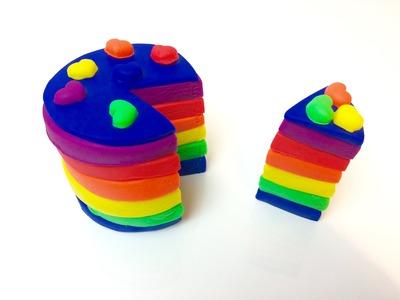 Learn Colors! Play Doh Cake   Play Doh Rainbow Cake!
