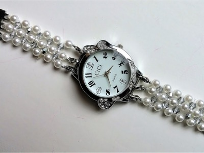 Learn how to make beaded watch bands.
