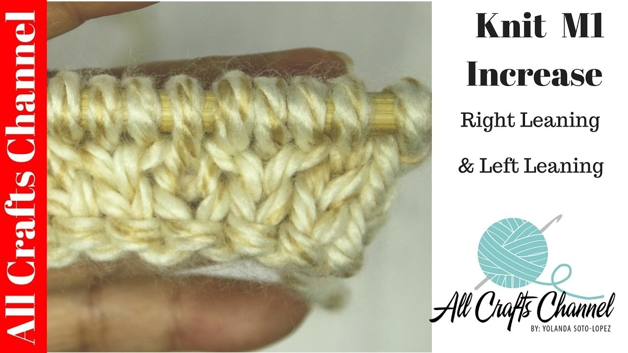 Learn to Knit M1 increase