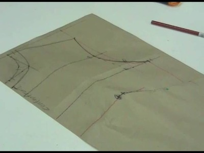 Lesson 2-30 EXTRA LARGE Front Bodice Part 1b - PATTERN MAKING OF A BASIC DRESS WITH WAISTLINE