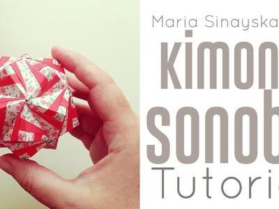 Origami Kimono Sonobe Kusudama Tutorial