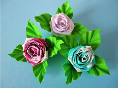 Papierstreifen Rosen. Roses from strips of paper. DIY
