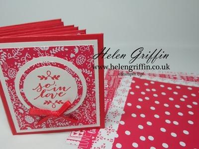 Part 1 - Stampin'Up! Valentine's Miniature Envelope Album Tutorial