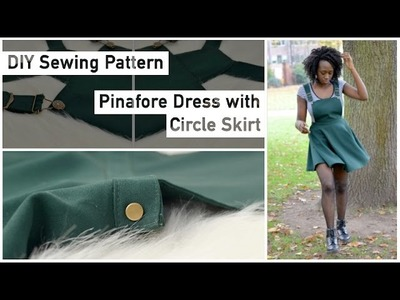 Pattern Drafting for Beginners - Pinafore Dress with Circle Skirt • Elewa