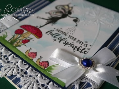 PE143-Fairy Wishes Embossing Folder&Stamps