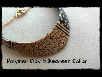 Polymer Clay Silkscreen Collar Part 1