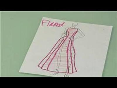 Princess Seams in Fashion Design : Princess Seam Fashion Design for Flared Dresses