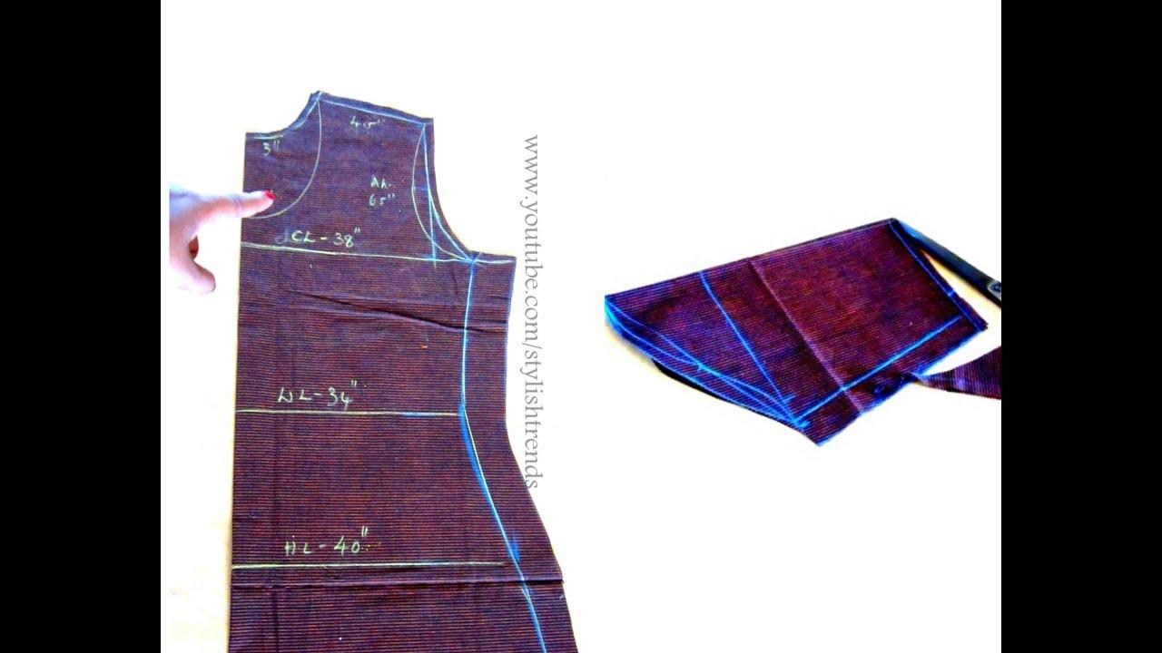 PUNJABI dress cutting in Telugu, పంజాబీ డ్రెస్ కటింగ్ చేయడం ఎలా? - Complete Sewing Tutorial
