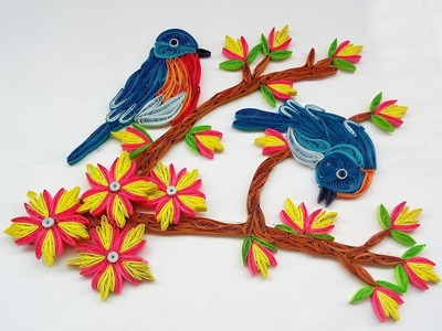 Quilled Birds Designs For Wall Decorations   Paper Quilling Art