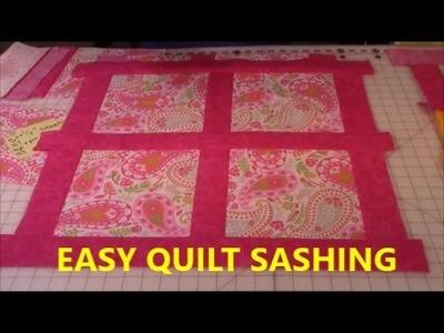 Quilt Sashing Lesson #1