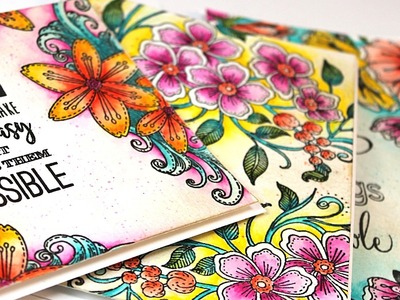 Relaxing Coloring with Penny Black Stamps and Watercolor Pencils