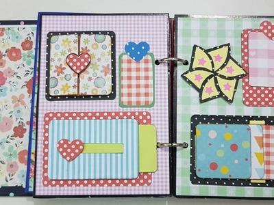 Scrapbook Tutorial.How to make Scrapbook.DIY Scrapbook Tutorial.Birthday Scrapbook Ideas