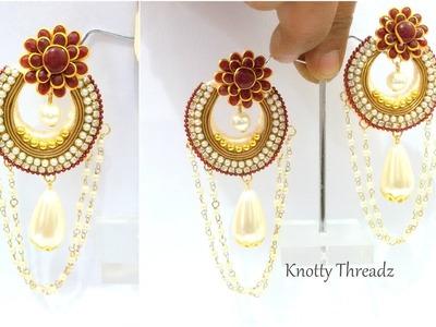 Silk Thread Jewellery | Making of Designer Silk Thread Chandbali  Earrings | www.knottythreadz.com
